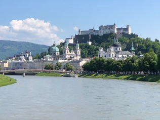 Hohensalzberg Fortress view from Salz River