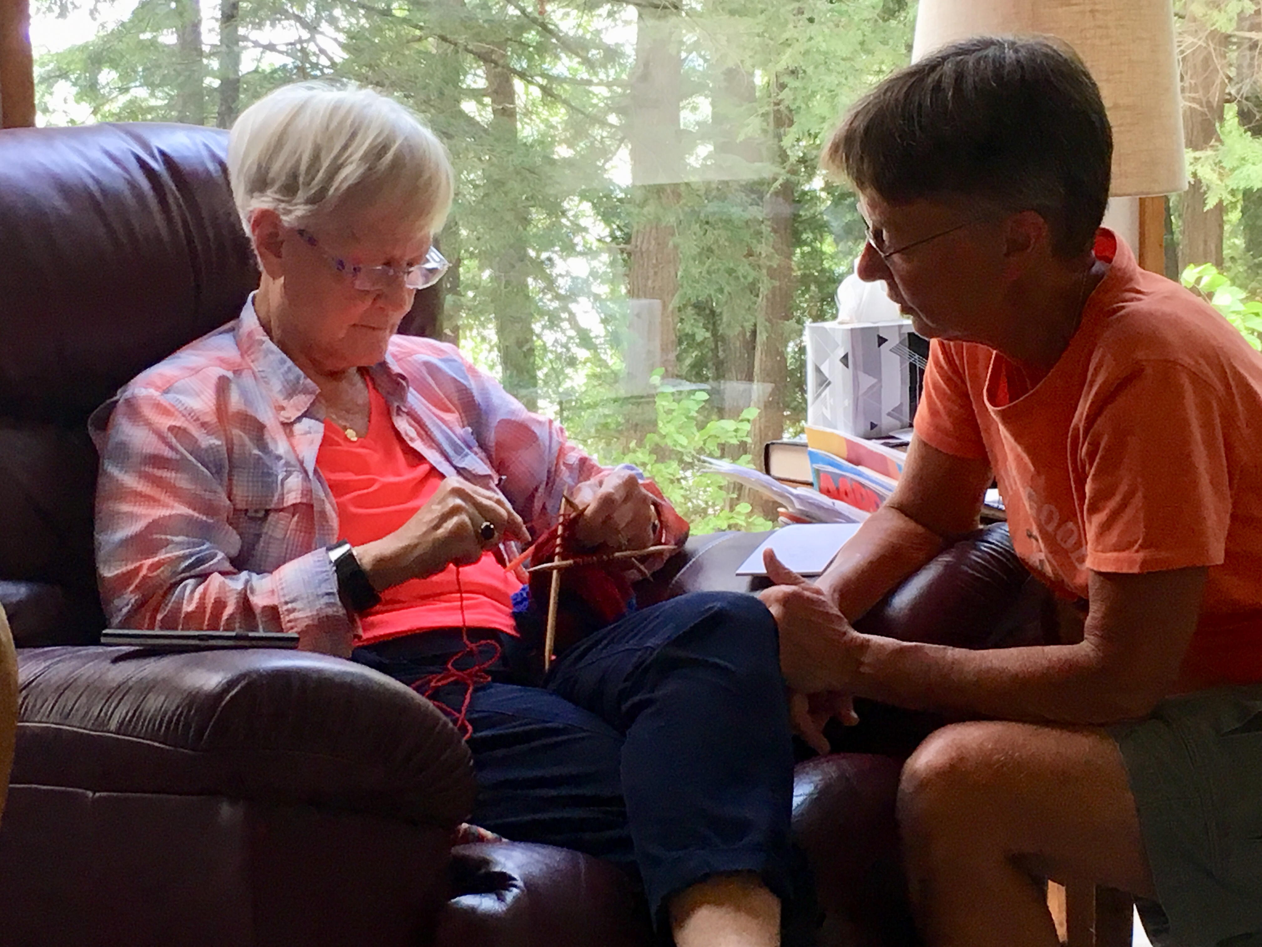 Knitting with Nancy