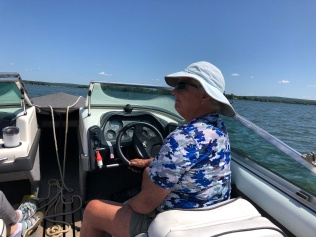 Margie at the wheel