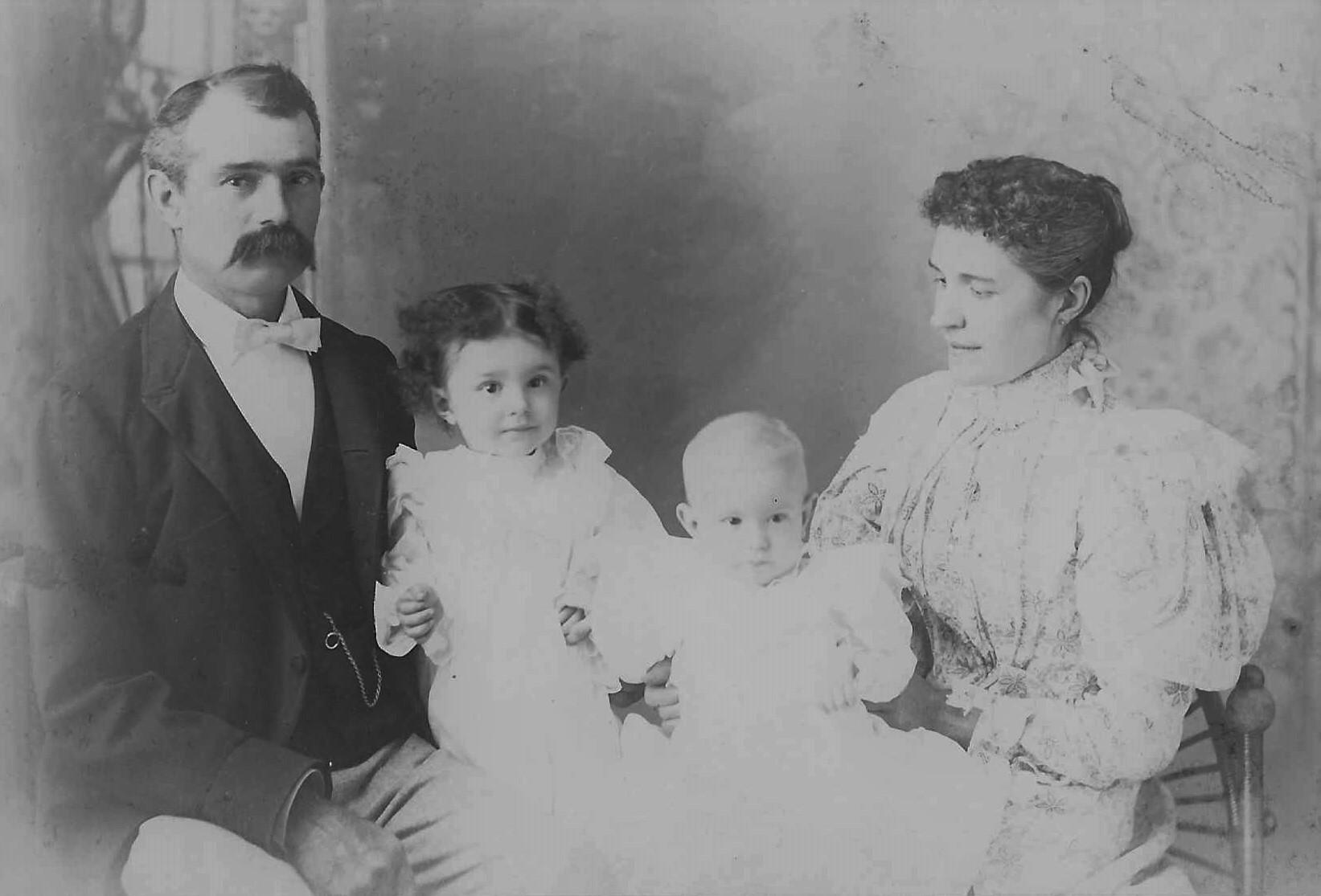 Thomas and Anna Townsend Quantic, Hermina and Berton circa 1897